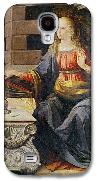 The Annunciation   Detail Of The Virgin Galaxy S4 Case by Leonardo Da Vinci