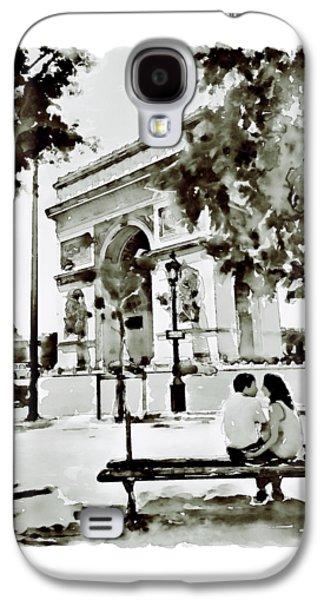 The Arc De Triomphe Paris Black And White Galaxy S4 Case