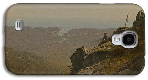 The Artist Sketching At Mount Desert Maine Galaxy S4 Case by Sanford Robinson Gifford