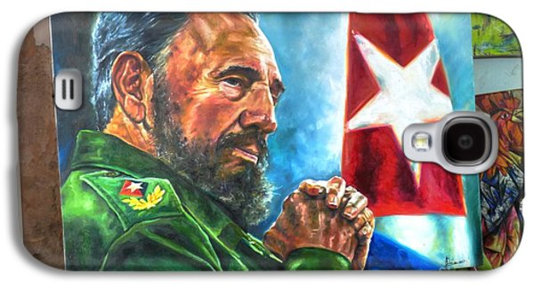 The Arts In Cuba Fidel Castro 2 Galaxy S4 Case by Wayne Moran