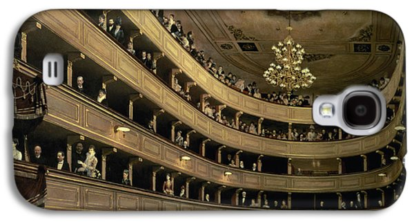 The Auditorium Of The Old Castle Theatre Galaxy S4 Case by Gustav Klimt