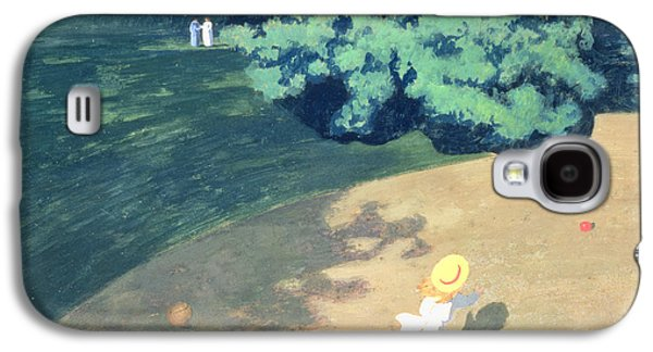 The Balloon Or Corner Of A Park With A Child Playing With A Balloon Galaxy S4 Case by Felix Edouard Vallotton