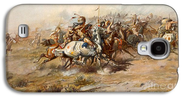 The Battle Of Little Bighorn Galaxy S4 Case by Charles Marion Russell