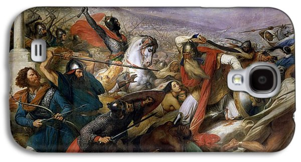 The Battle Of Poitiers Galaxy S4 Case by Charles Auguste Steuben