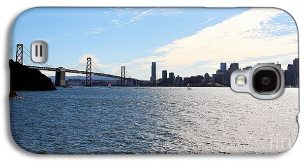 Downtown San Francisco Galaxy S4 Cases - The Bay Bridge and The San Francisco Skyline Viewed From Treasure Island . 7D7771 Galaxy S4 Case by Wingsdomain Art and Photography