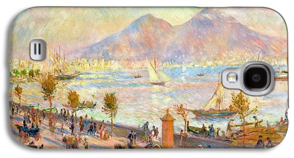 The Bay Of Naples With Vesuvius In The Background Galaxy S4 Case by Pierre Auguste Renoir