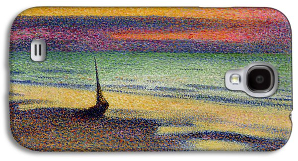 Impressionism Galaxy S4 Case - The Beach At Heist by Georges Lemmen
