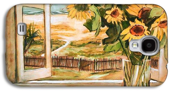 The Beach Sunflowers Galaxy S4 Case by Winsome Gunning