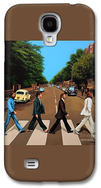 Rock And Roll Galaxy S4 Case - The Beatles Abbey Road by Paul Meijering
