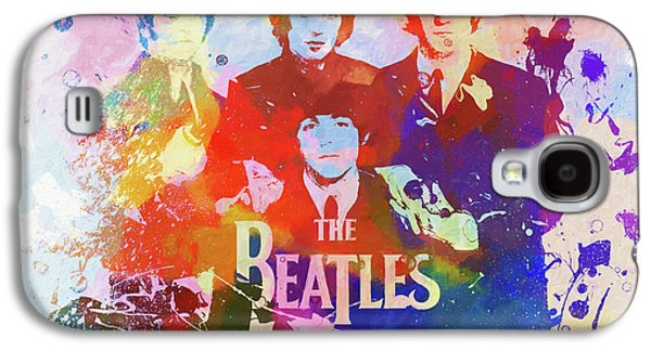 The Beatles Paint Splatter  Galaxy S4 Case
