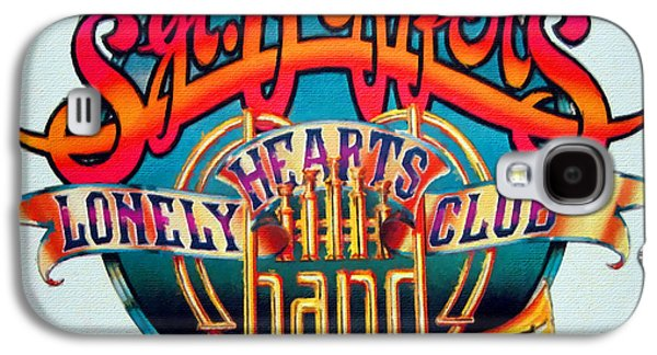 The Beatles Sgt. Pepper's Lonely Hearts Club Band Logo Painting 1967 Color Galaxy S4 Case by Tony Rubino