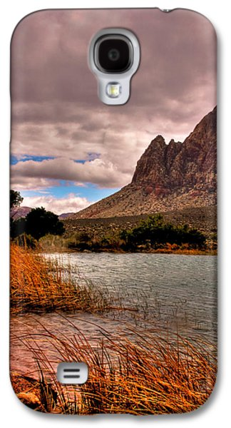 Fault Galaxy S4 Cases - The Beautiful Red Rock Canyon in Nevada Galaxy S4 Case by David Patterson