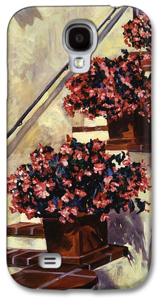 The Begonia Stairs Galaxy S4 Case by David Lloyd Glover