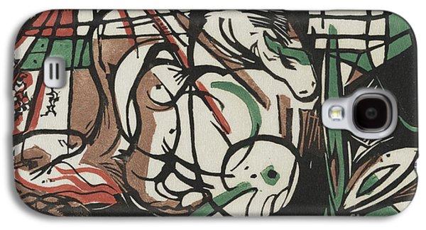 The Birth Of Horses  Geburt Der Pferde, 1913 Galaxy S4 Case by Franz Marc