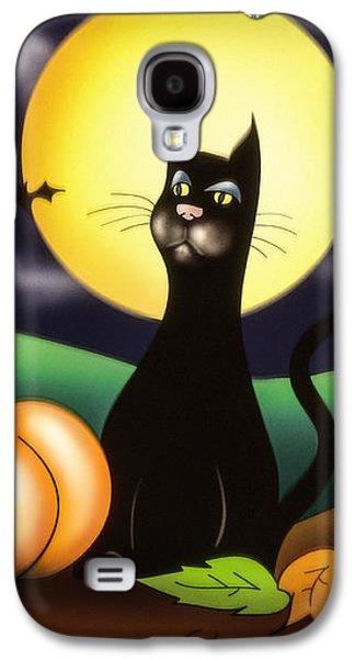 The Black Cat Galaxy S4 Case by Alessandro Della Pietra