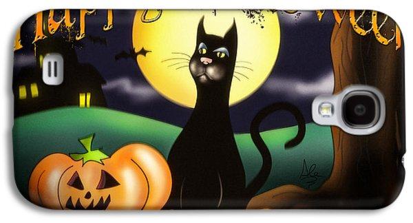 The Black Cat Greeting Card Galaxy S4 Case by Alessandro Della Pietra