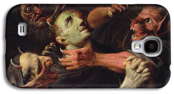 The Blessed Guillaume De Toulouse Tormented By Demons Galaxy S4 Case by Ambroise Fredeau