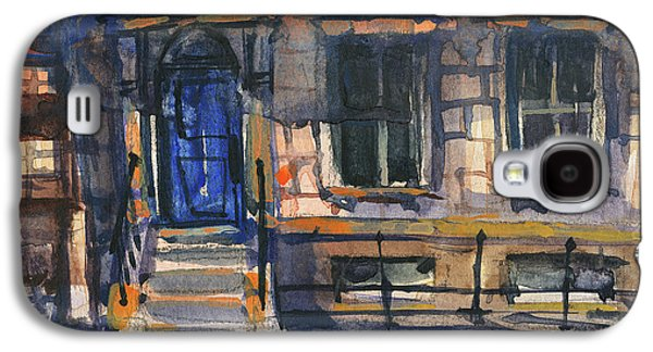 The Blue Door, New York Galaxy S4 Case by Kristina Vardazaryan