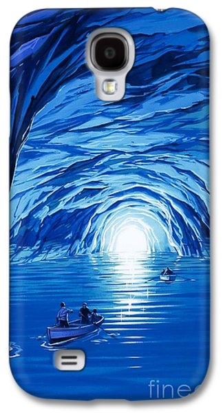 The Blue Grotto In Capri By Mcbride Angus  Galaxy S4 Case