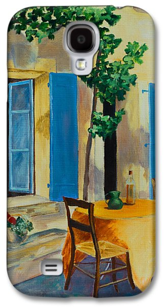 The Blue Shutters Galaxy S4 Case by Elise Palmigiani