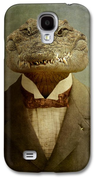 Crocodile Galaxy S4 Case - The Boss by Martine Roch