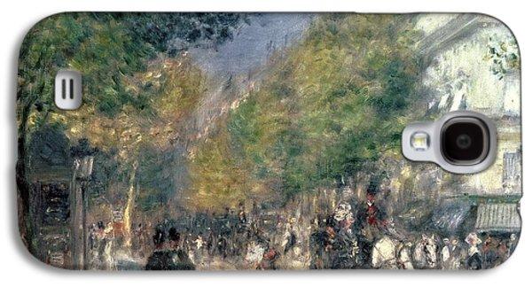 The Boulevards  Galaxy S4 Case by Pierre Auguste Renoir