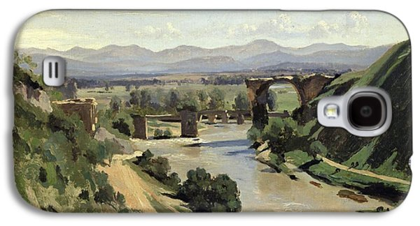 The Bridge Of Augustus Over The Nera Galaxy S4 Case by Jean Baptiste Camille Corot