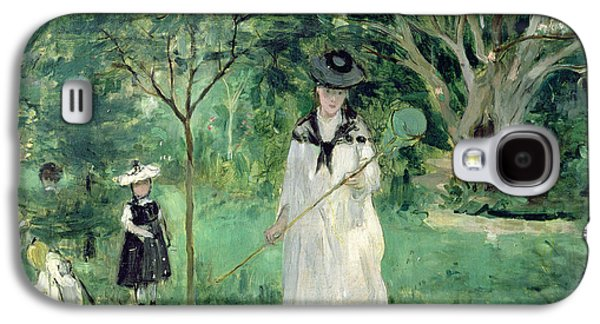 The Butterfly Hunt Galaxy S4 Case by Berthe Morisot
