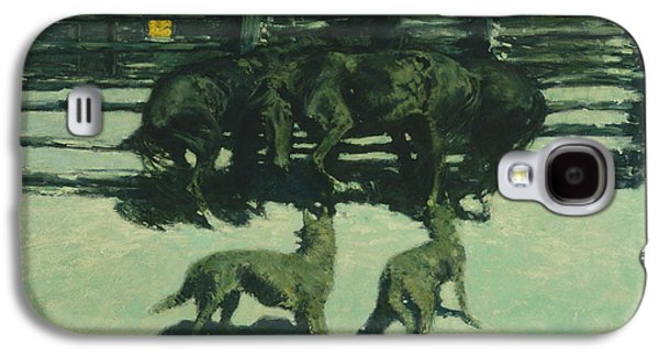 The Call For Help Galaxy S4 Case by Frederic Remington