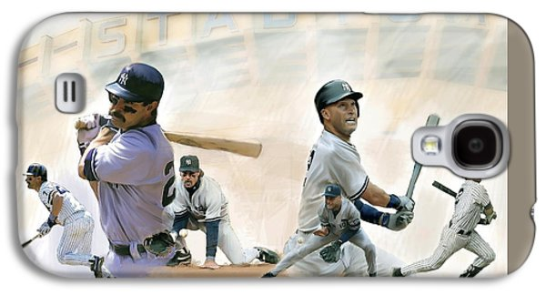 The Captains II Don Mattingly And Derek Jeter Galaxy S4 Case by Iconic Images Art Gallery David Pucciarelli