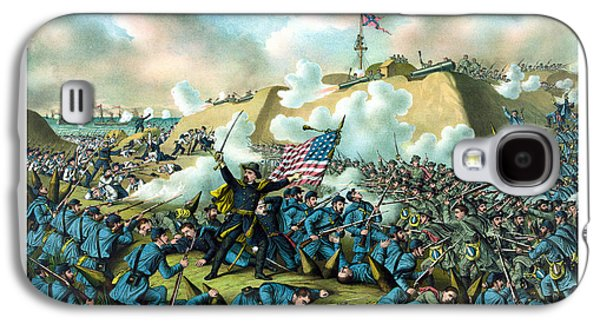 American History Galaxy S4 Cases - The Capture of Fort Fisher Galaxy S4 Case by War Is Hell Store