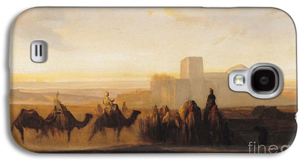 African Paintings Galaxy S4 Cases - The Caravan Galaxy S4 Case by Alexandre Gabriel Decamps
