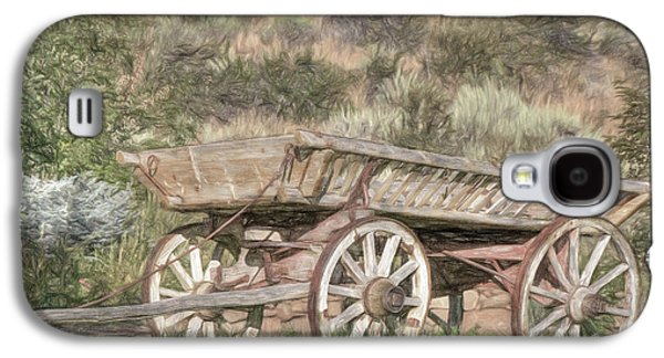The Cart Before The Horse Galaxy S4 Case by Donna Kennedy