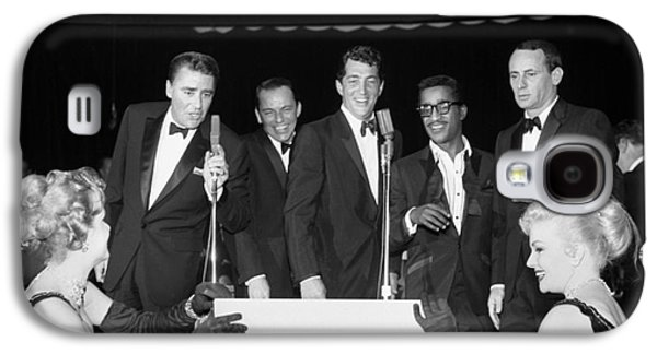 The Cast Of Ocean's 11 And Members Of The Rat Pack. Galaxy S4 Case by The Titanic Project