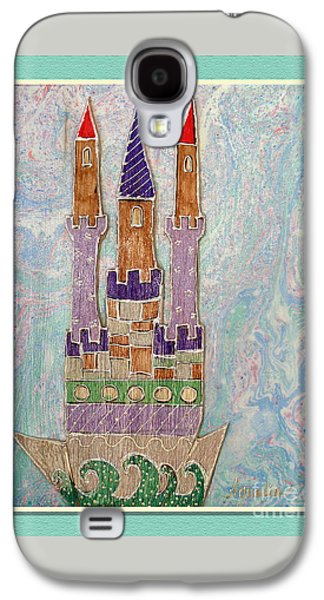 The Castle Travels Galaxy S4 Case by Aqualia