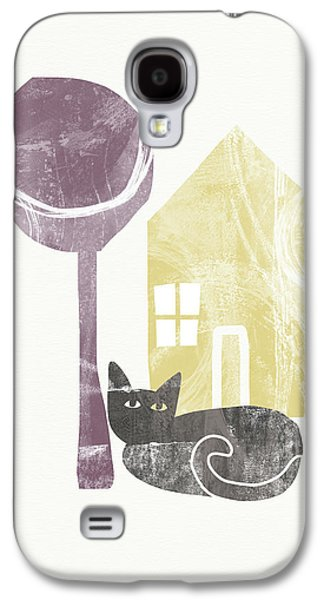 The Cat's House- Art By Linda Woods Galaxy S4 Case by Linda Woods