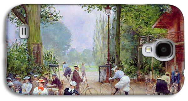 The Chalet Du Cycle In The Bois De Boulogne Galaxy S4 Case by Jean Beraud