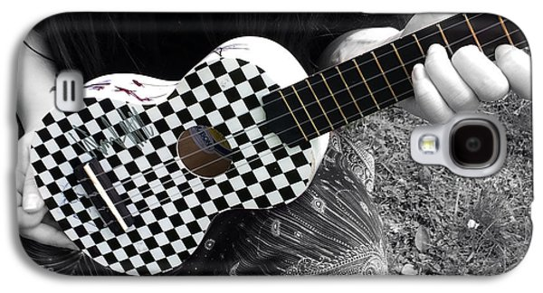 The Checkered Uke Galaxy S4 Case by Steven Digman