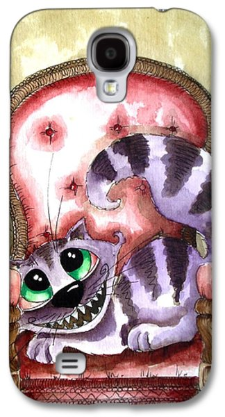 The Cheshire Cat - Lovely Sofa Galaxy S4 Case by Lucia Stewart