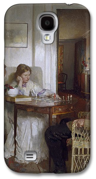 The Chess Players Galaxy S4 Case by Sir William Orpen