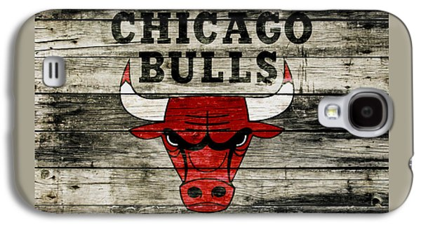 The Chicago Bulls Wood Art Galaxy S4 Case by Brian Reaves