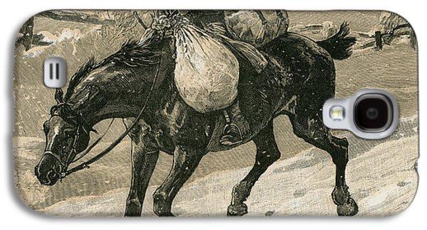 The Christmas Postman Galaxy S4 Case by John Charles Dollman
