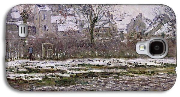 The Church At Vetheuil Under Snow Galaxy S4 Case by Claude Monet