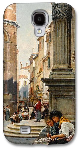 The Church Of The Frari And School Of San Rocco, Venice Galaxy S4 Case
