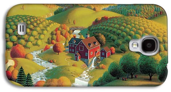 Autumn Landscape Galaxy S4 Case - The Cider Mill by Robin Moline