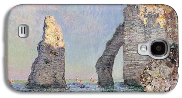 Impressionism Galaxy S4 Case - The Cliffs At Etretat by Claude Monet