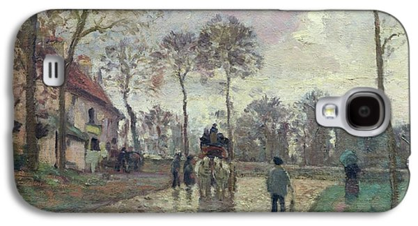 The Coach To Louveciennes Galaxy S4 Case by Camille Pissarro