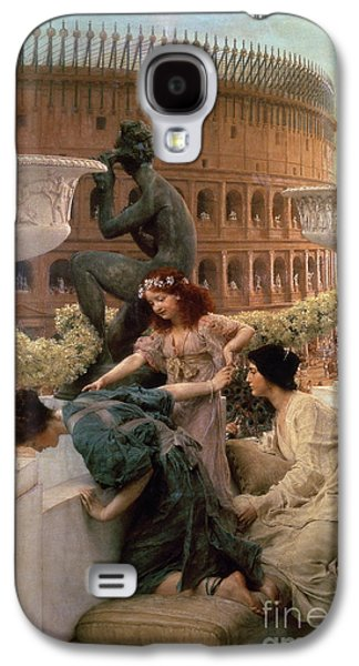 Ancient Galaxy S4 Cases - The Coliseum Galaxy S4 Case by Sir Lawrence Alma-Tadema