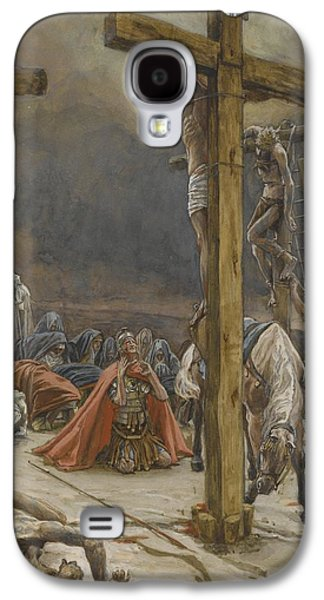 Religious Galaxy S4 Cases - The Confession of Saint Longinus Galaxy S4 Case by Tissot