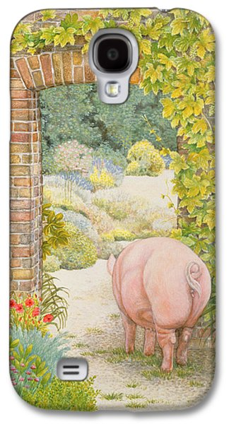 The Convent Garden Pig Galaxy S4 Case by Ditz